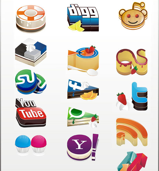 18 Free Social Media Icon Sets with Awesome Creativity 1