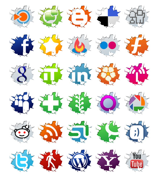 18 Free Social Media Icon Sets with Awesome Creativity 10