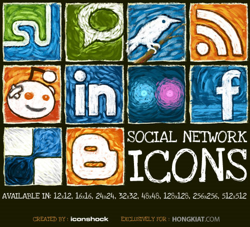 18 Free Social Media Icon Sets with Awesome Creativity 11