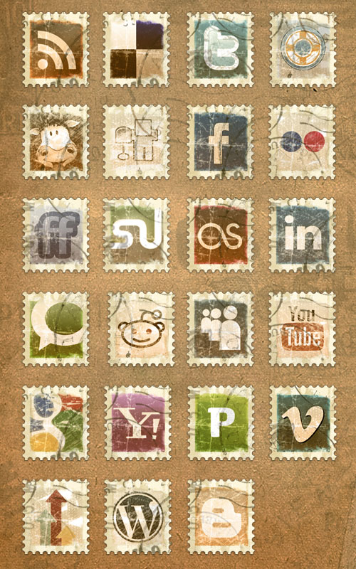 18 Free Social Media Icon Sets with Awesome Creativity 12