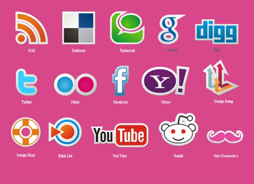 18 Free Social Media Icon Sets with Awesome Creativity 13