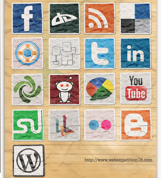 18 Free Social Media Icon Sets with Awesome Creativity 2