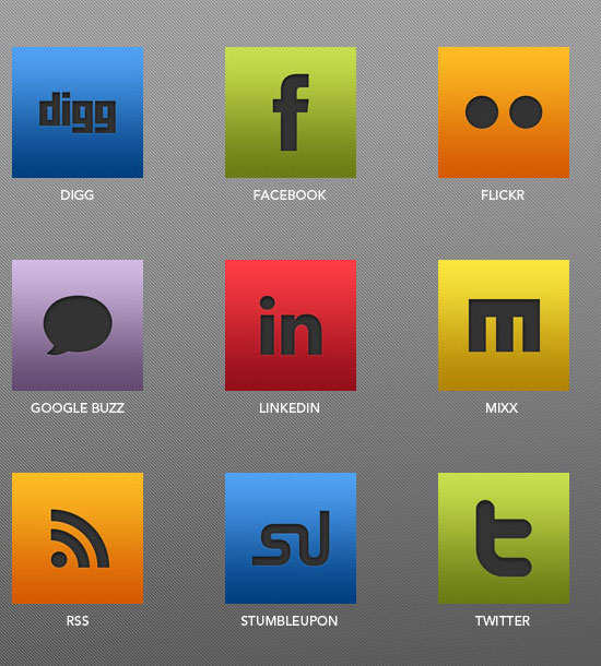 18 Free Social Media Icon Sets with Awesome Creativity 3