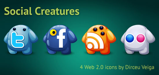 18 Free Social Media Icon Sets with Awesome Creativity 4