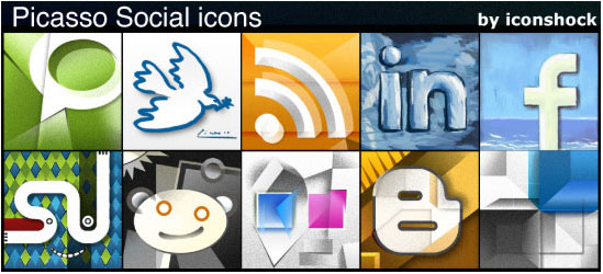 18 Free Social Media Icon Sets with Awesome Creativity 6