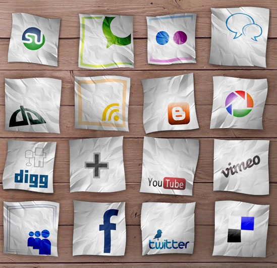18 Free Social Media Icon Sets with Awesome Creativity 8