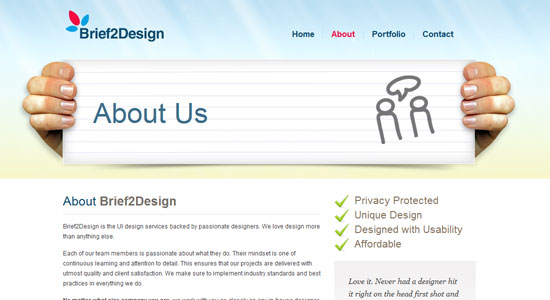 Experience About Us Pages of Some Highly Creative Designers Website