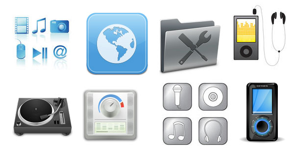 Useful Free Multimedia Web Icons for Designers