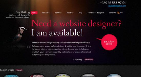 30 Creative Portfolio Designs to Inspire Designers 13