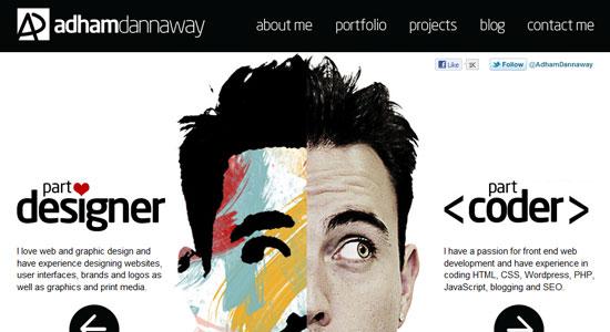 30 Creative Portfolio Designs to Inspire Designers 4