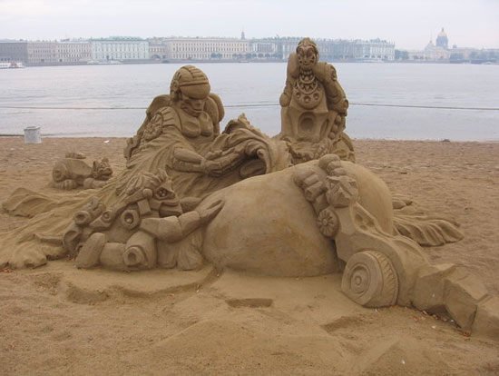30 Wonderful Sand Sculptures You Love to Watch Closely 10