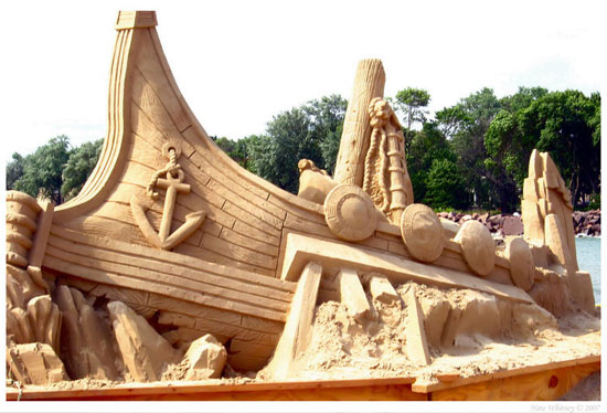 30 Wonderful Sand Sculptures You Love to Watch Closely 7