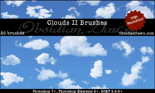 20 Free Useful Water and Cloud Brushes resource for Photoshop Users 16