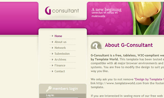 40 High Quality Free XHTML/CSS Web Template for Developers