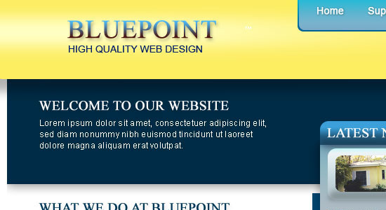 Free Download: Blue Point – Website PSD Template