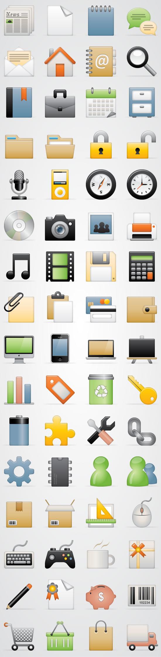10 Useful Fresh Free Icon Set 1