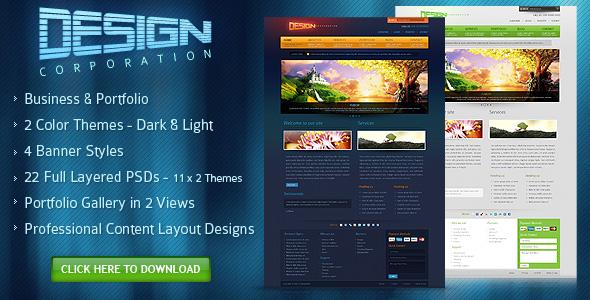 DESIGN CORPORATION – FREE PSD Template by djdesignerlab
