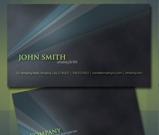 10 Attractive Business Cards with Source File 3