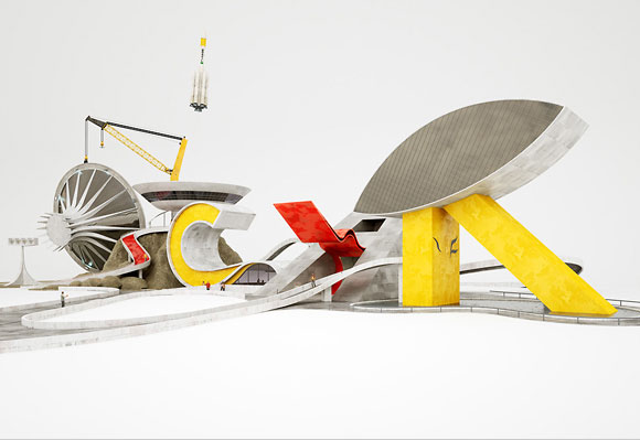 20 Exceptional 3D Type Illustration for Inspiration 15