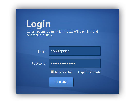 15 Creative Free Login Form with PSD 9
