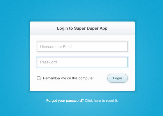 15 Creative Free Login Form with PSD 1