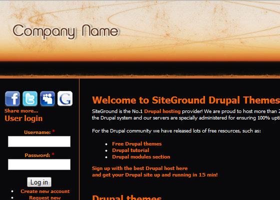 20 Beautiful and Creative Free Drupal Themes 1