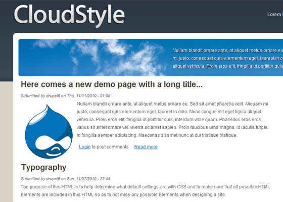 20 Beautiful and Creative Free Drupal Themes