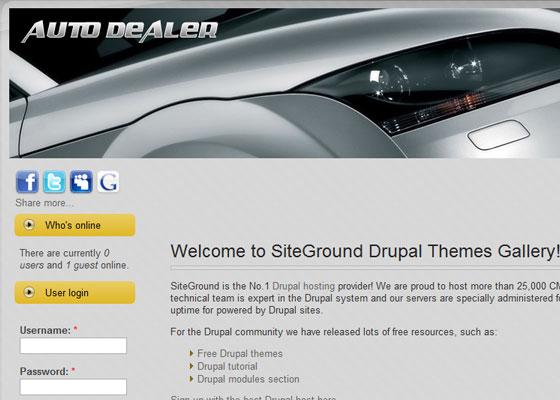 20 Beautiful and Creative Free Drupal Themes 6