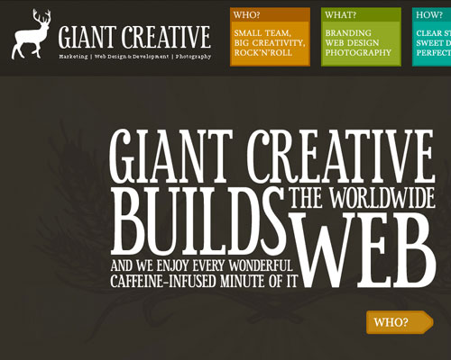 20 Excellent Examples of using Typography in Web Design 9