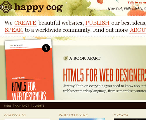 20 Excellent Examples of using Typography in Web Design 14