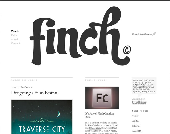 20 Excellent Examples of using Typography in Web Design 3