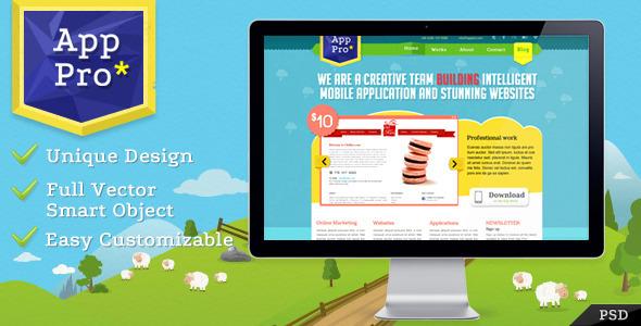 20 Delightful Premium PSD Web Templates 1