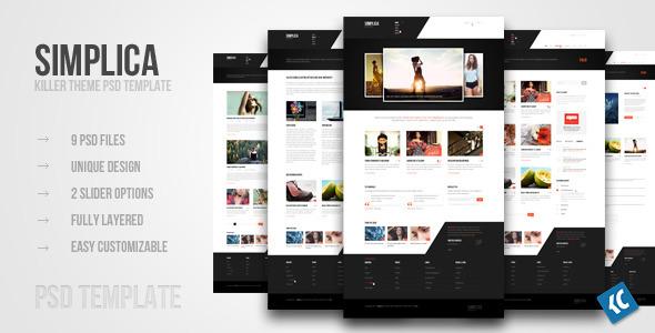 20 Delightful Premium PSD Web Templates 6