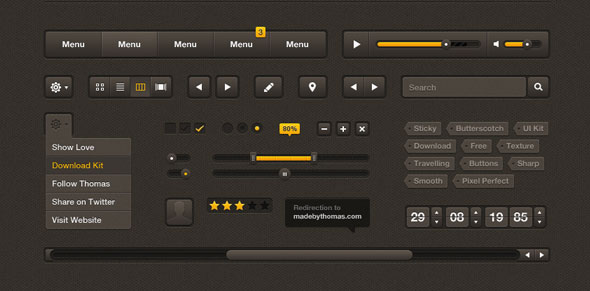 20 Most Useful Free PSD Bundle for Designers 2