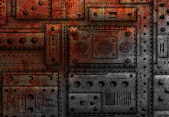 15 Uncommon Set of Metallic Texture, Pattern and Brushes for Photoshop Users 14