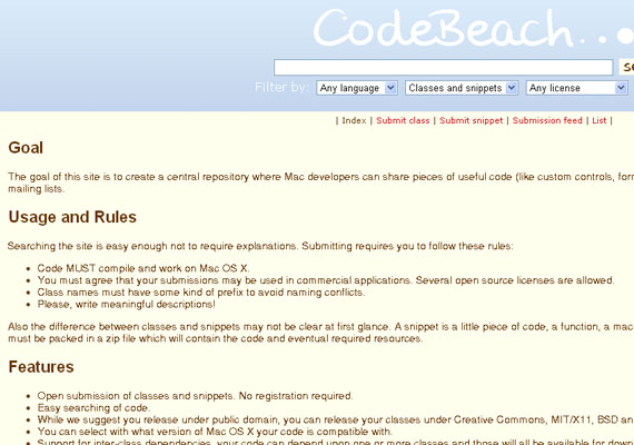 20 Excellent Code Snippet Resources 13