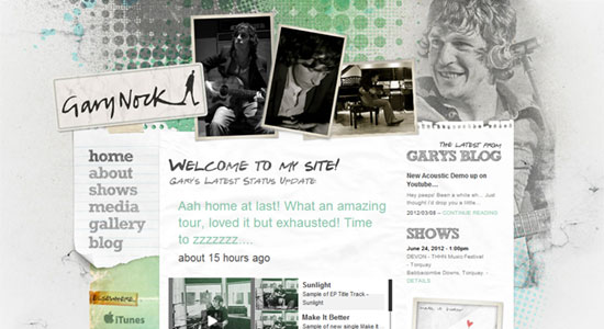 15 Scrapbook Style Web Design for Creative Inspiration 10