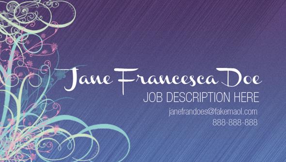 Design a Quick Elegant Feminine Business Card in 10 Simple Steps