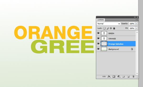 How To Design a Splattered Flyer Title 4