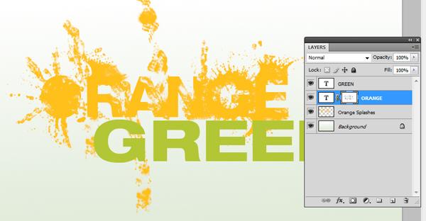 How To Design a Splattered Flyer Title 8