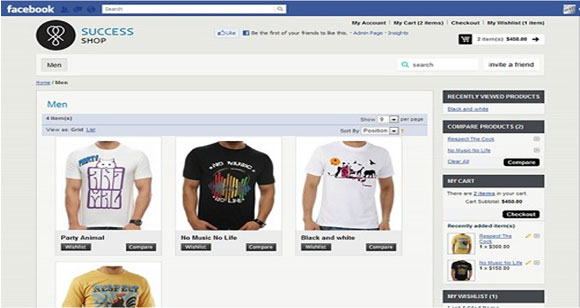 Top 5 Online Stores to Like on Facebook 1