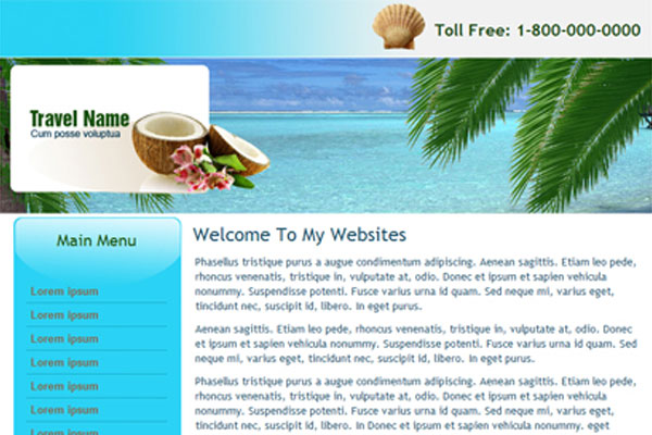 20 Best Free Travel Website Template 13
