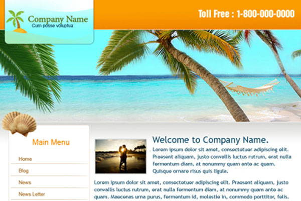 20 Best Free Travel Website Template 14