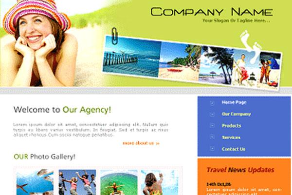 20 Best Free Travel Website Template 15