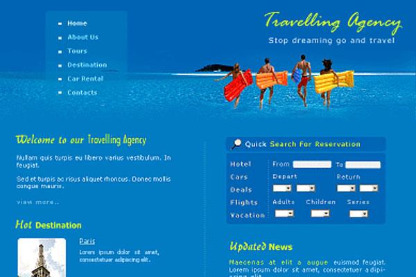 20 Best Free Travel Website Template 17