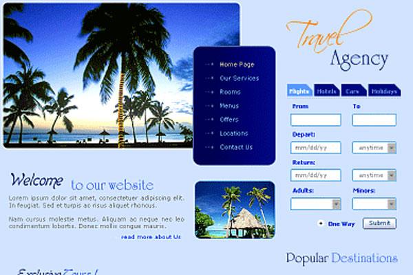 20 Best Free Travel Website Template 18