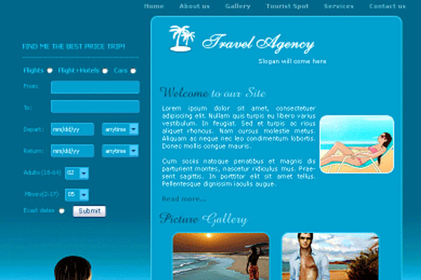 20 Best Free Travel Website Template