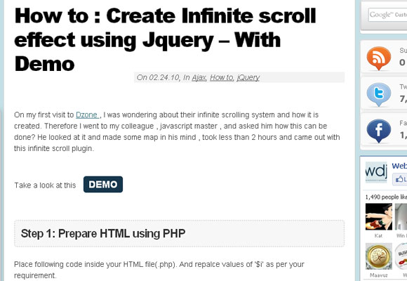 10 Free jQuery Scrolling Plugins for Web Designers