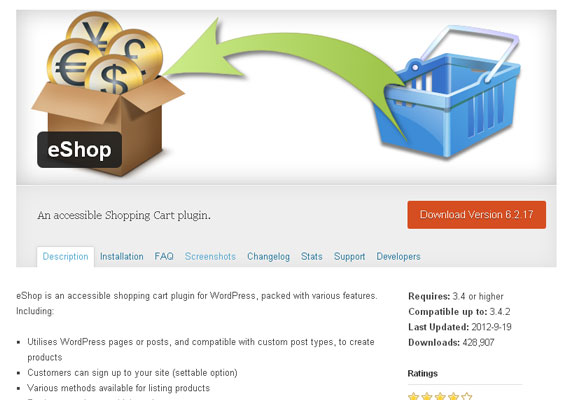 10 Free and Premium Shopping Cart Plugins for WordPress 4