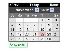 10 Beautiful jQuery Calendar Plugins 1